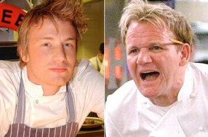 Jamie Oliver and Gordon Ramsay