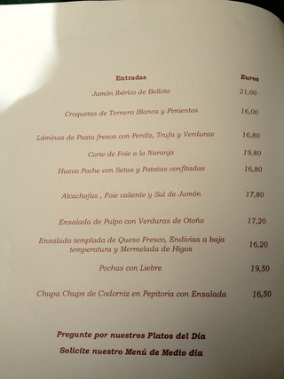 El jard n de orfila restaurant madrid martine va au resto for Au jardin singapore menu