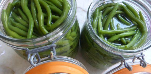 Conserve maison : La préparation des haricots verts en bocaux